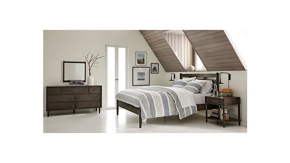 Barnes Smoke Brown 7-Drawer Dresser