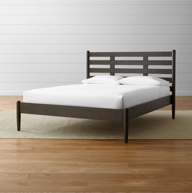 barnes smoke brown bed crate and barrel