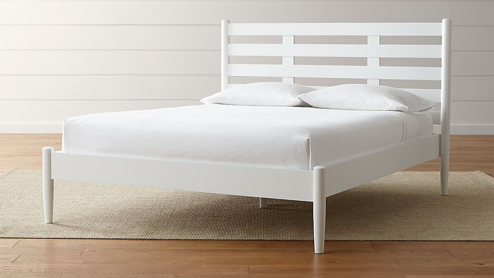 Barnes White Queen Bed Reviews Crate And Barrel