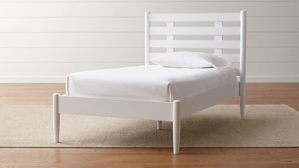 Barnes White Twin Bed Crate and Barrel