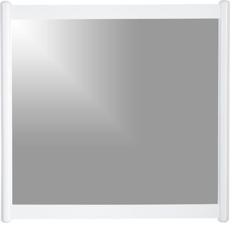 Barnes White Rectangular Wall Mirror
