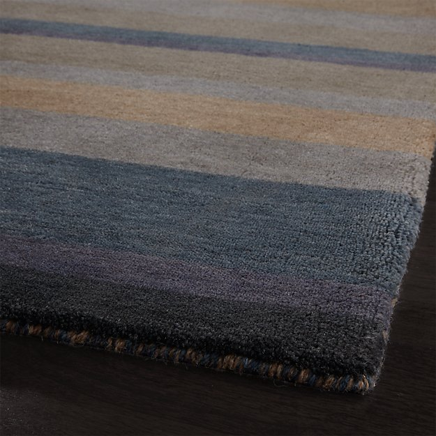 Barnett Shore Blue Stripe Wool Rug Crate And Barrel