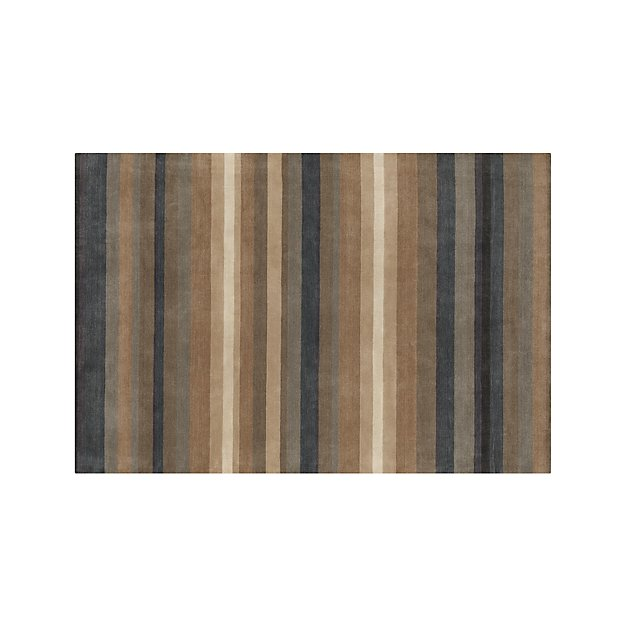 Barnett Blue Stripe Wool Rug 6'x9'