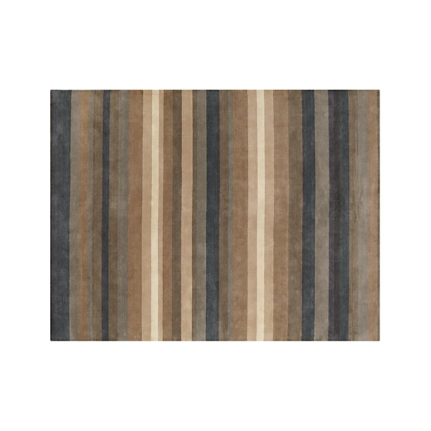 Barnett Blue Stripe Wool Rug 9'x12'