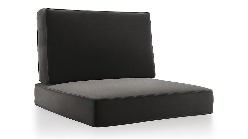 Barra Charcoal Sunbrella ® Lounge Chair Cushions - Image 1 of 2