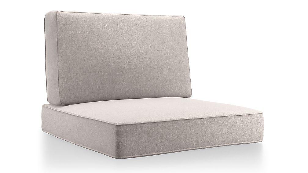 Barra Silver Sunbrella ® Lounge Chair Cushions - Image 1 of 2