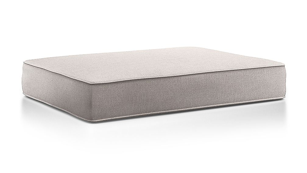 Barra Silver Sunbrella ® Ottoman Cushion - Image 1 of 2