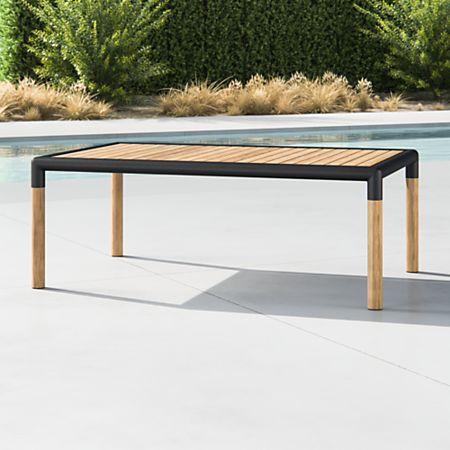 Sensational Barra Teak Metal Coffee Table Theyellowbook Wood Chair Design Ideas Theyellowbookinfo