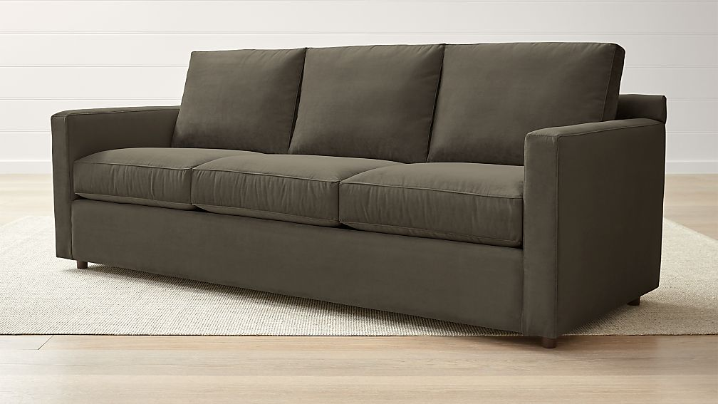 Barrett 3-Seat Track Arm Dark Brown Sofa + Reviews | Crate and Barrel