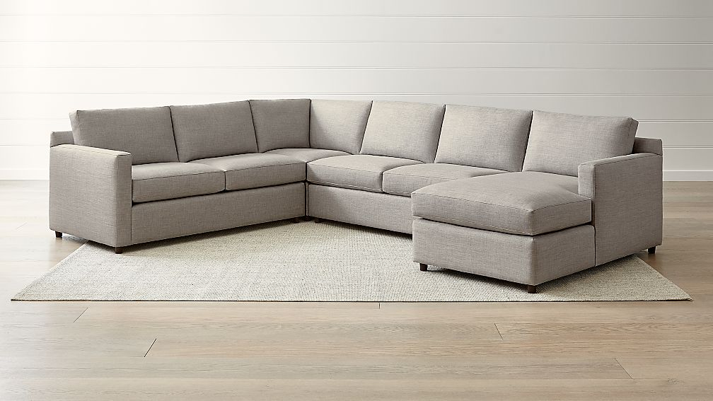 Barrett 4 Piece Right Arm Chaise Sectional Reviews Crate And Barrel
