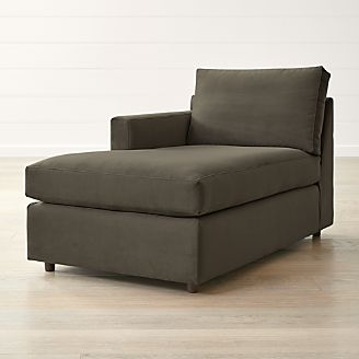 Barrett Left Arm Chaise & Chaise Lounge Sofas u0026 Chairs | Crate and Barrel