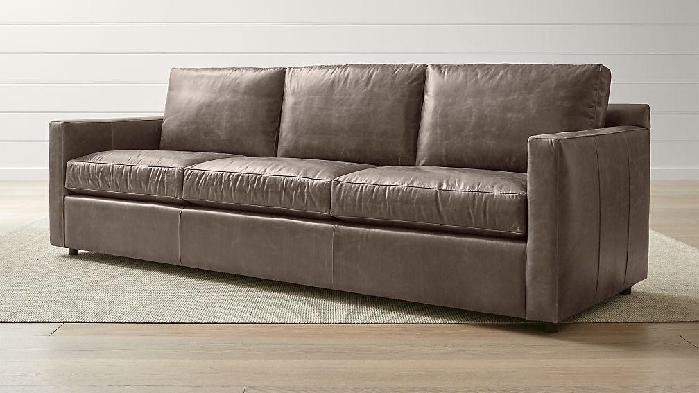 "Barrett Leather 103"" Grande Track Arm Sofa - Image 1 of 5"