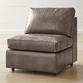 Armless Leather Chairs