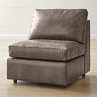Barrett Leather Armless Chair