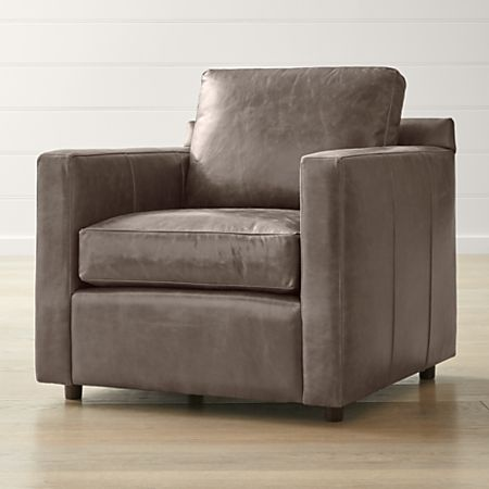Groovy Barrett Leather Track Arm Chair Crate And Barrel Gamerscity Chair Design For Home Gamerscityorg