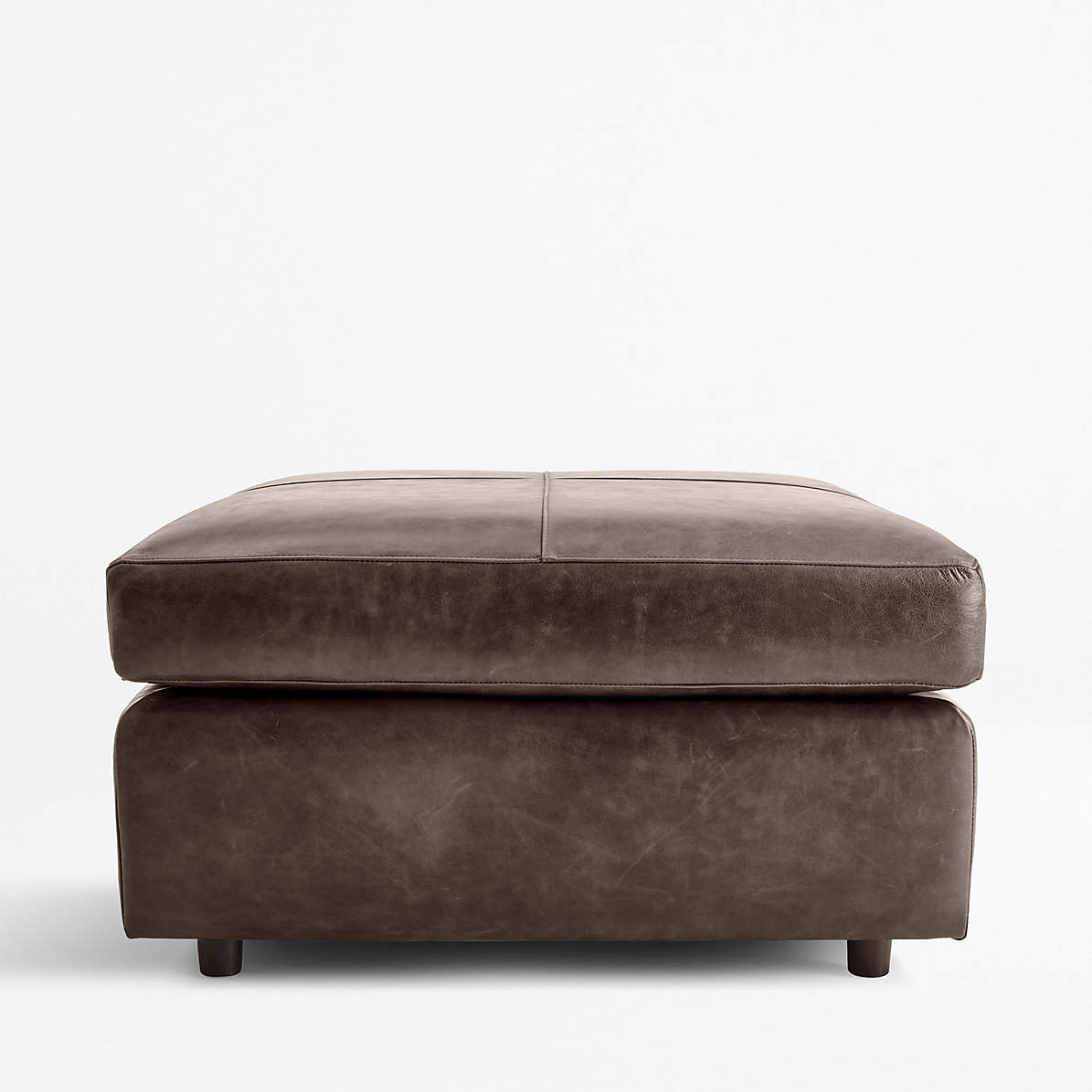 Barrett Leather Square Cocktail Ottoman Reviews Crate And Barrel Canada