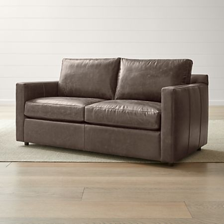 Barrett Leather Full Sleeper Reviews Crate And Barrel