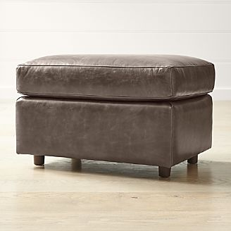 Barrett Leather Ottoman