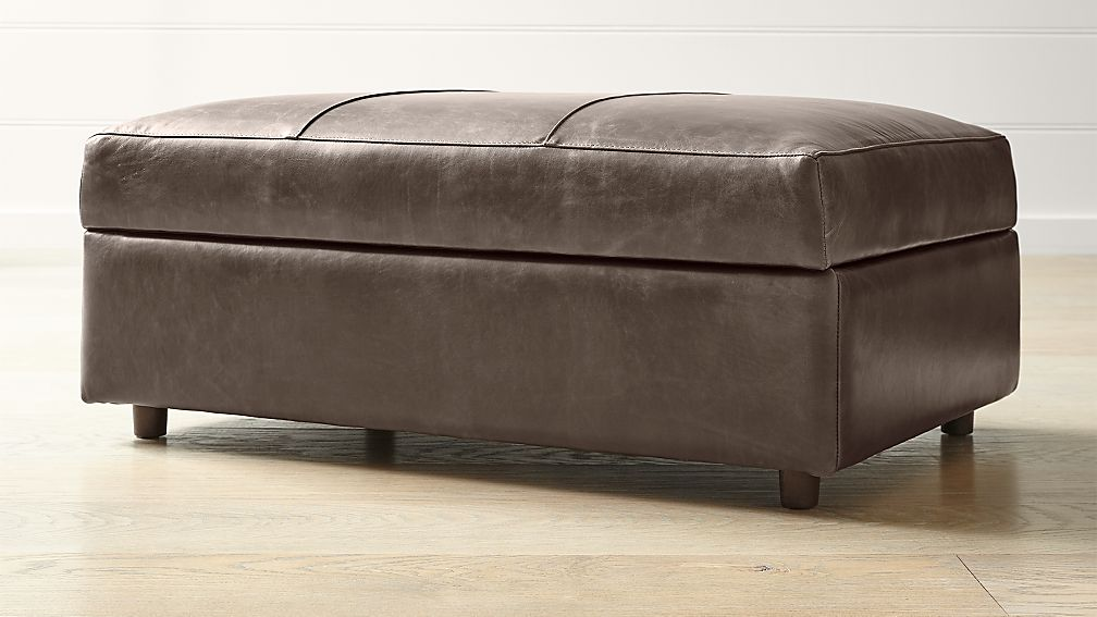 Barrett Leather Ottoman and a Half - Image 1 of 4