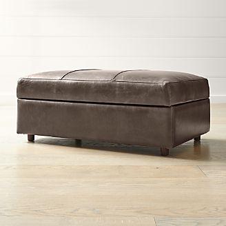 Bon Barrett Leather Storage Ottoman