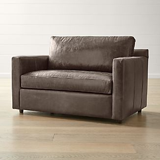 Barrett Leather Track Arm Chair And A Half