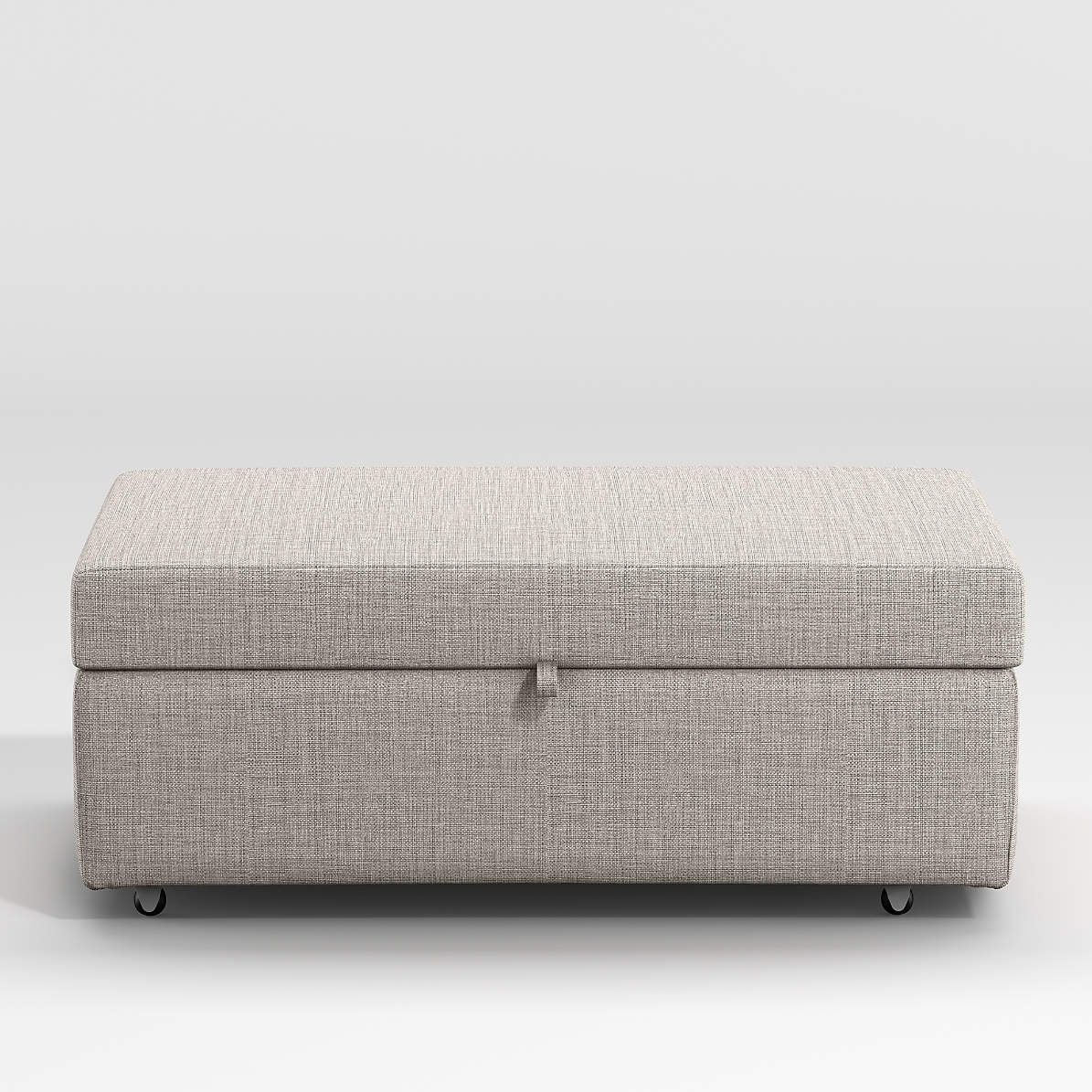 Barrett Storage Ottoman With Tray And Casters Reviews Crate And Barrel
