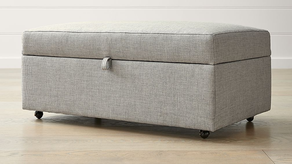 Barrett Storage Ottoman with Tray and Casters - Image 1 of 5