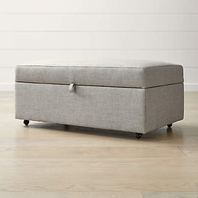 View testBarrett Storage Ottoman with Tray and Casters