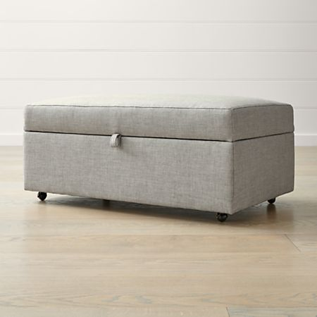 Wondrous Barrett Storage Ottoman With Tray And Casters Crate And Barrel Canada Gmtry Best Dining Table And Chair Ideas Images Gmtryco