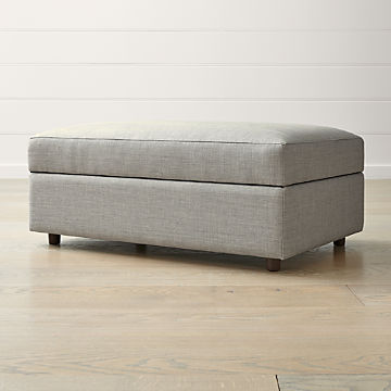 Groovy Storage Benches And Ottomans Crate And Barrel Machost Co Dining Chair Design Ideas Machostcouk