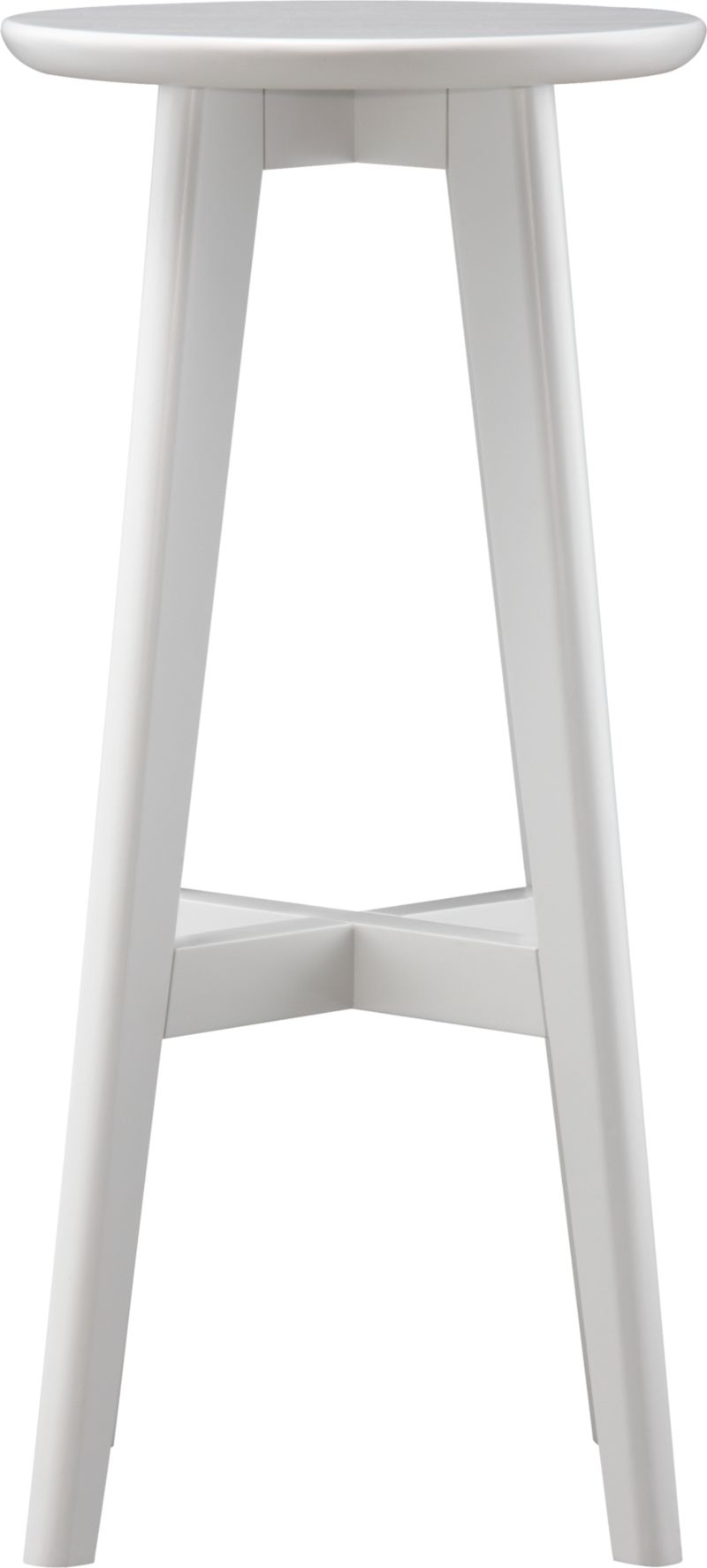 "Our classic, versatile stool takes a clean and simple stance in solid painted rubberwood with a clear lacquer finish and provides seating sized right for bars. Crossbar brace makes a comfortable footrest.<br /><br /><NEWTAG/><ul><li>Solid rubberwood</li><li>Lacquer finish</li><li>30""H seat sized for bars</li></ul>"