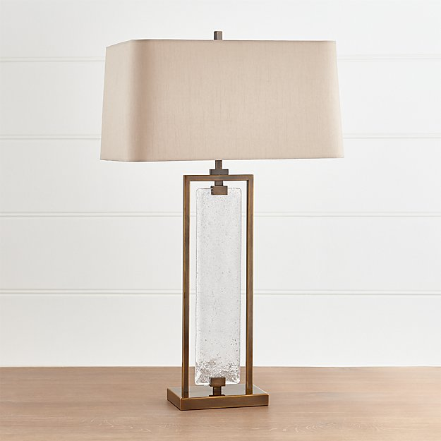 Barton Glass and Metal Table Lamp - Image 1 of 9