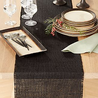 Basa Black Table Runner