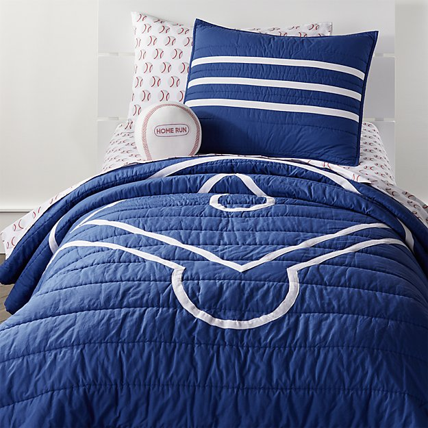 Full Queen Baseball Quilt Reviews Crate And Barrel