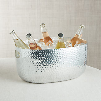 Small Silver Bash Beverage Tub
