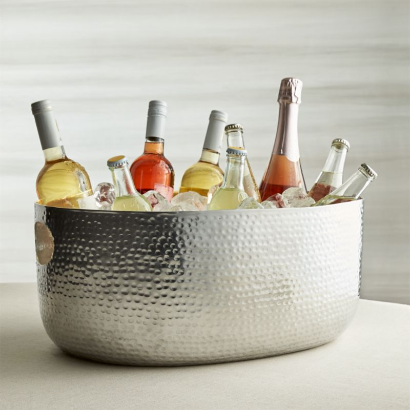 Bash Silver Beverage Tub Reviews Crate And Barrel