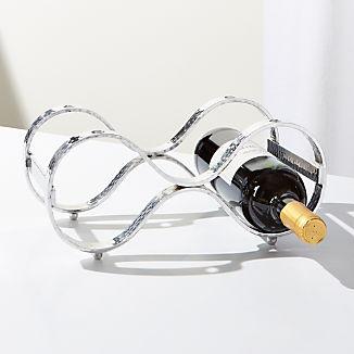 Bash Silver Stacking 3-Bottle Wine Rack