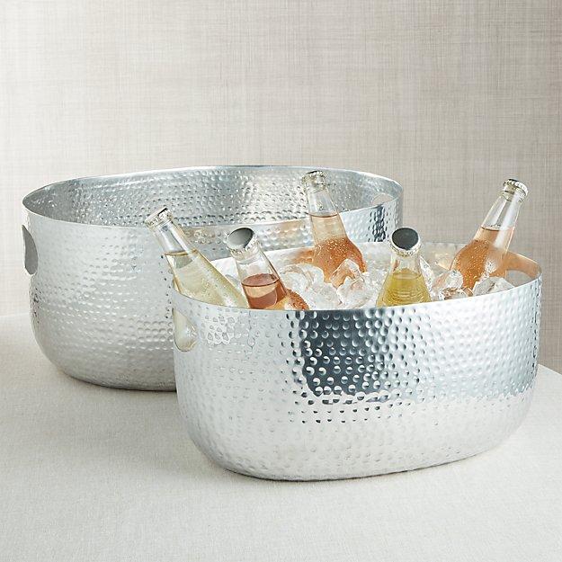 Bash Silver Beverage Tub