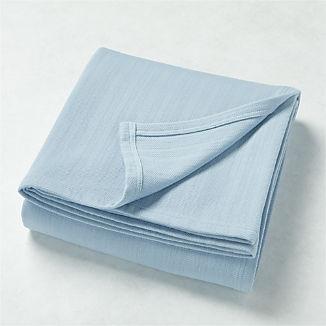 Basic Blue Bed Blanket