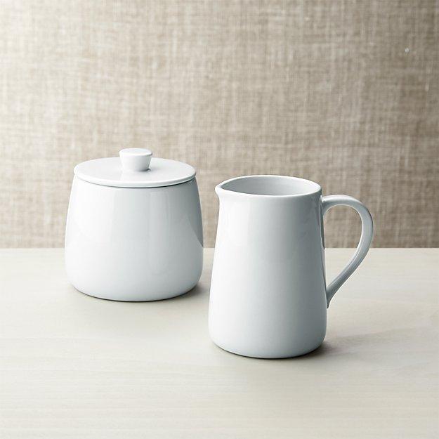 Basic White Sugar and Creamer - Image 1 of 5
