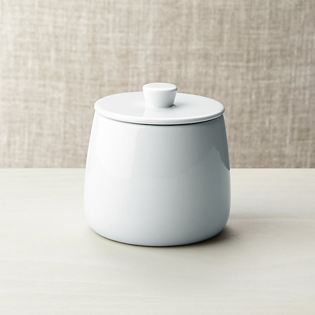 Basic White Sugar Bowl - Image 1 of 5