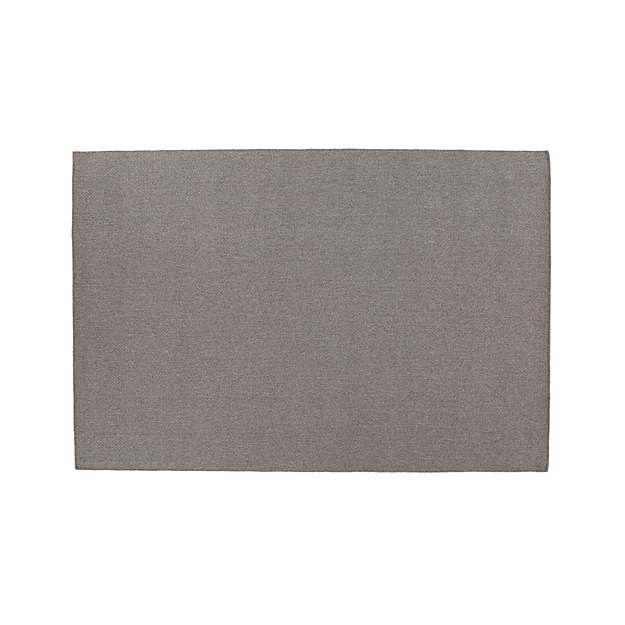 Basket Grey Flatweave Rug 5'x8' - Image 1 of 3