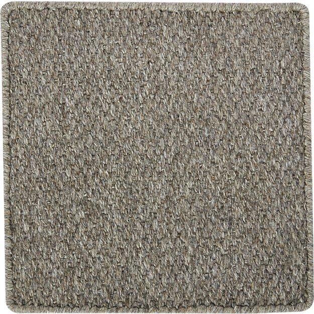 """Basket Grey Flatweave 12"""" sq. Rug Swatch"""