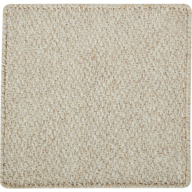 "Basket Ivory Wool-Blend 12"" sq. Rug Swatch"