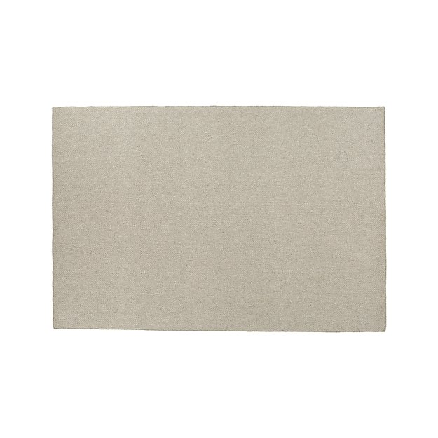 Basket Silver Wool-Blend 8'x10' Rug
