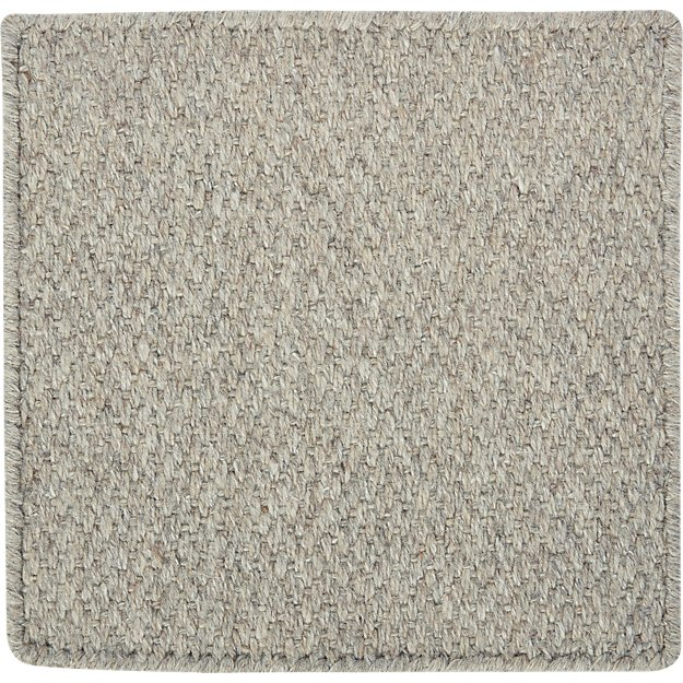 "Basket Silver Wool-Blend 12"" sq. Rug Swatch"
