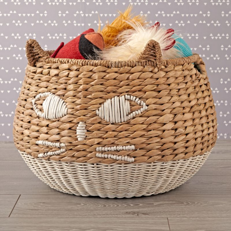 Woven Cat Basket Reviews Crate And Barrel