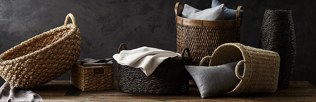 Large Wire Basket Storage | Baskets Wicker Wire Woven And Rattan Crate And Barrel