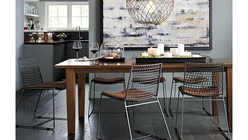 Basque Honey 104 Dining Table Crate and Barrel