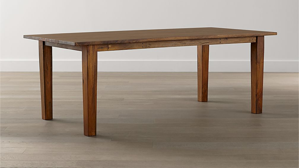 Dining Table basque honey dining tables | crate and barrel